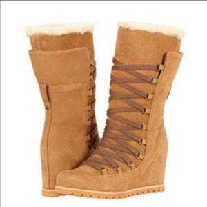 New Ugg Chestnut Mason Tall wedge Boots ❤️ sz 6.5